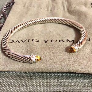 David Yurman 5mm Citrine/diamond bracelet